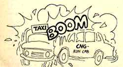 CNG-run cabs for Bombay