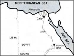 Dams and sea deliver death blow to Nile delta