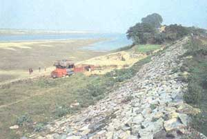 Embankments built to control f