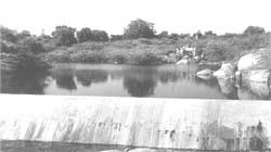 A check dam constructed by P< (Credit: manish tiwari/cse)