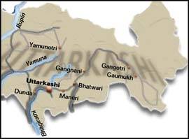 What caused the landslides in Uttaranchal?