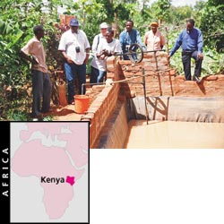 Effective water management by a Kenyan farmer