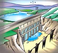 Dam blocked