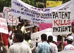 Protest over AIDS drug patent