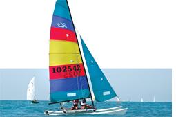 Humble catamaran's sporting makeover