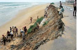 Illegal Buildings Trigger Erosion Threaten Puri Beach