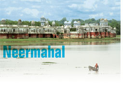 Neermahal: palace on shrinking lake