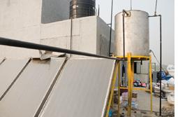 Rooftop hot water harvesting