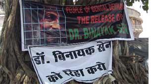 Worldwide support for Binayak Sen