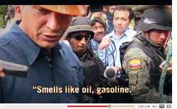 Oil spills over