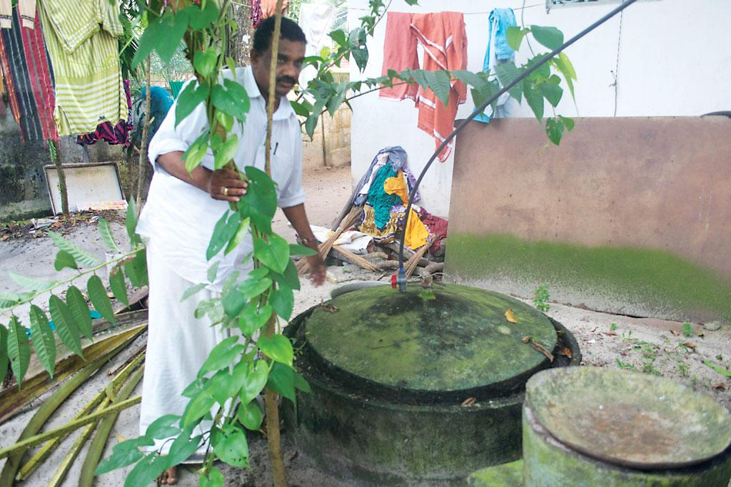 About 30 per cent of the households in Alappuzha's 12 wards have biogas plants to manage segregated wet waste (Photo: Swati Singh Sambyal)