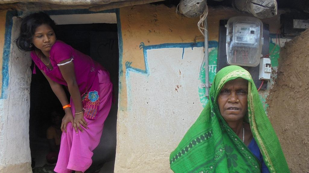 Halki Bai's house in Mahuadol village of Madhya Pradesh has a meter, but no electricity. She was asked for a bribe for the connection, which she refused to pay (Photos: Kundan Pandey)