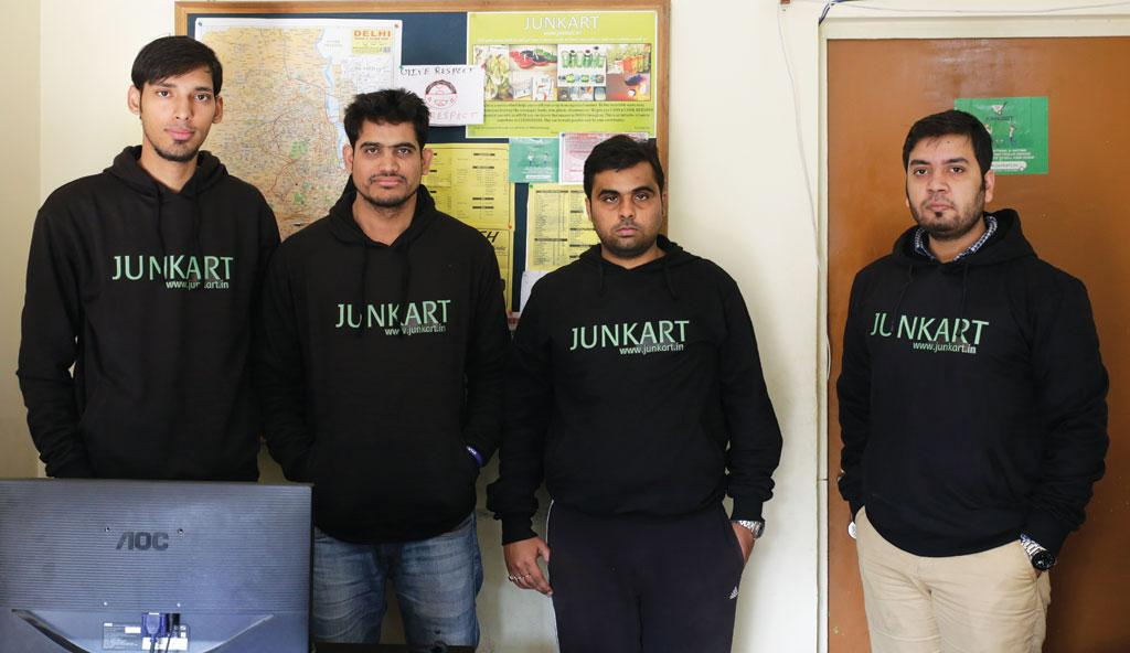 Co-founders of Junkart, which has developed a mobile app to connect people to scrap vendors
