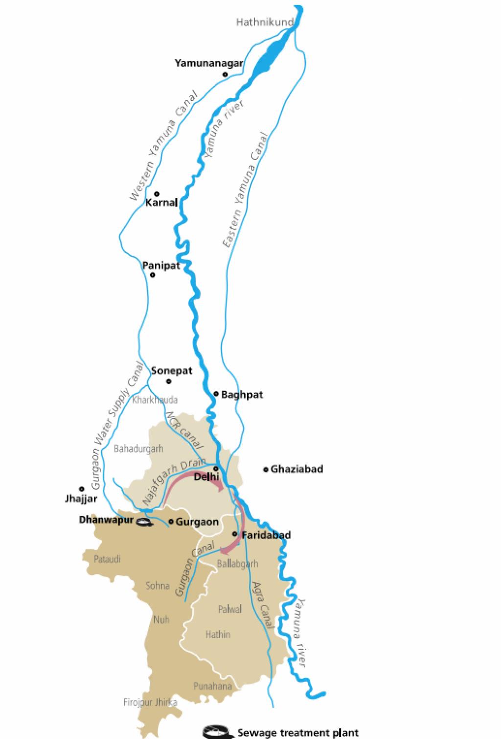 Najafgarh Drain Bird Sanctuary -Map