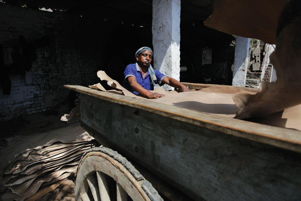 Tannery workers in Kanpur are worried that the slaughterhouse ban will affect the leather supply to the industry, and consequently, their jobs