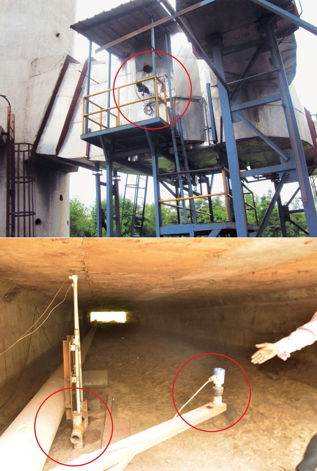 (Top) A wrongly installed