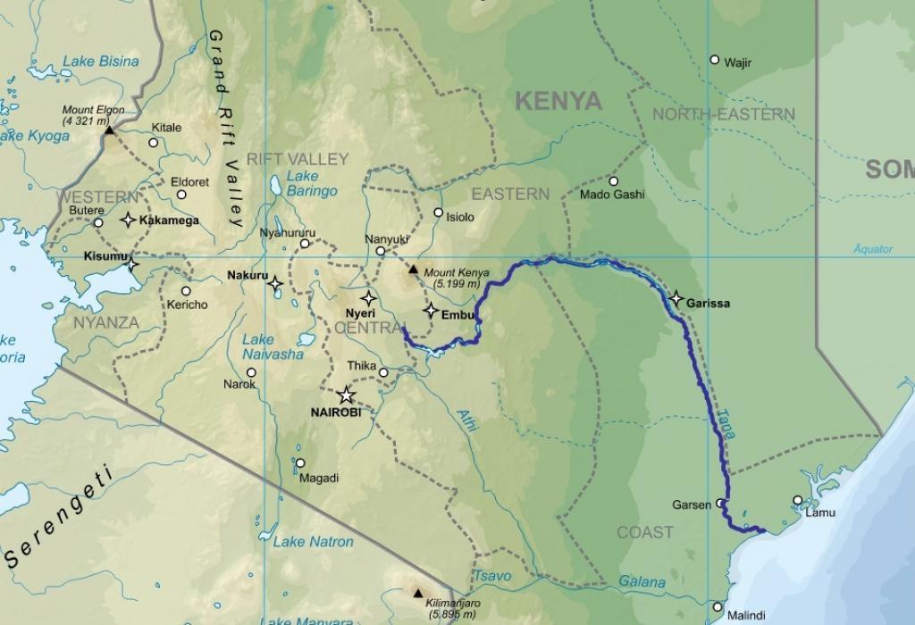 Kenyas Tana River Delta Under Threat From Development Projects - Kenya rivers map