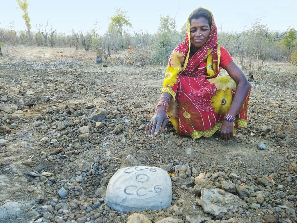 A sealed and marked drilling site in Kochamau village of Betul (Photographs: Jitendra)