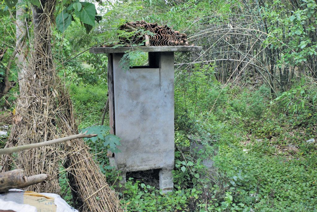 The toilet in