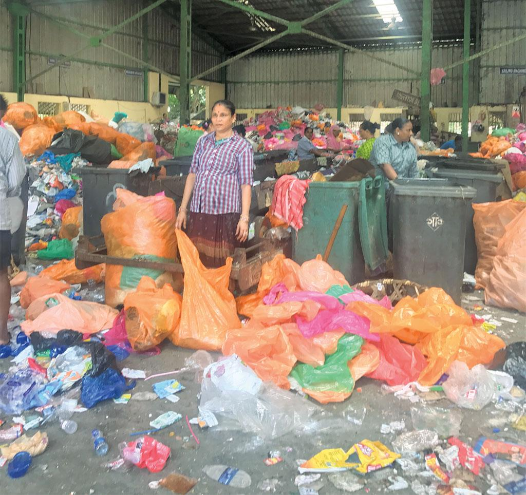 Only seven of Panaji's 12 dry waste sorting stations were functional when Down To Earth visited the city in May (Photographes: Richa Agarwal)