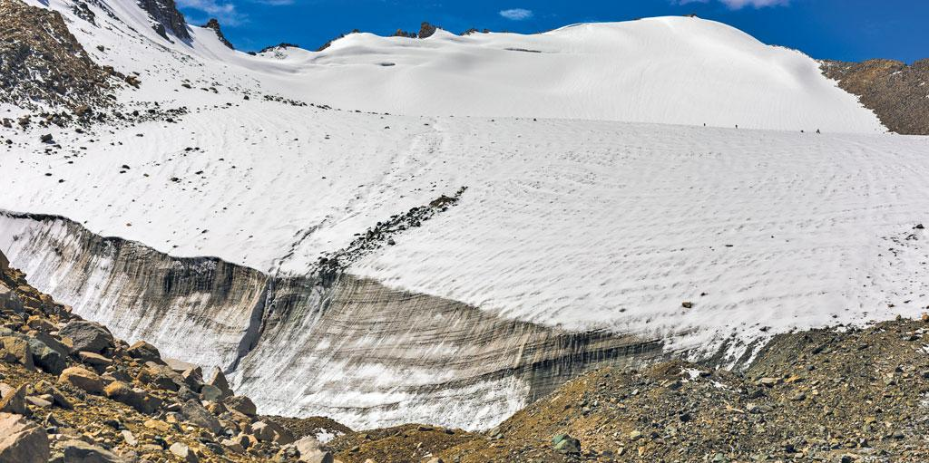 Black carbon, deposited on the Khardung glacier, has been linked to increased glacier melt and extreme weather