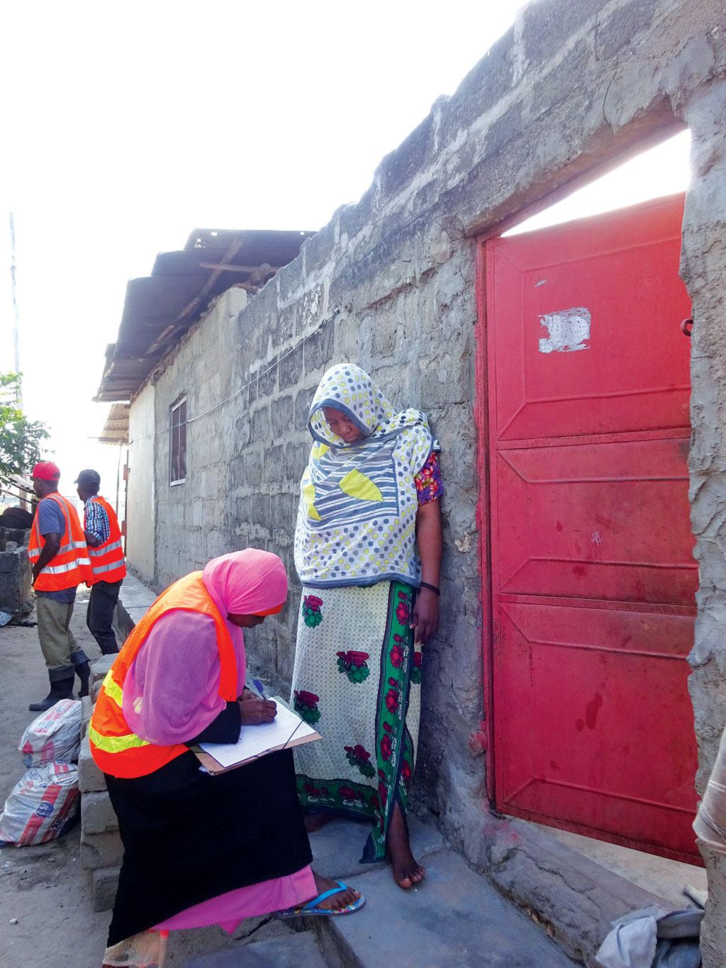 Under a pilot initiative in Zanzibar, workers are required to go from door-to-door  and educate households on waste segregation