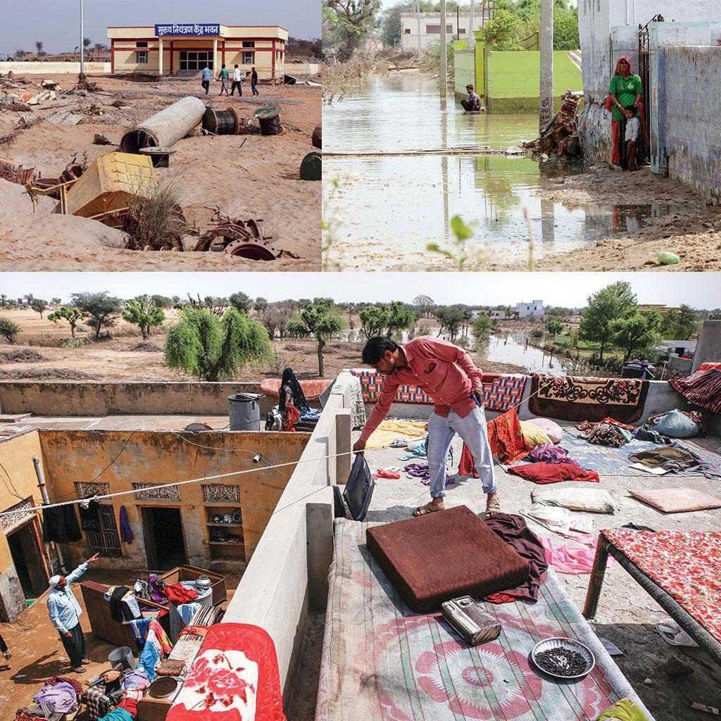<b>तबाही के निशान:  </b>बांध टूटने से पास में  बनी इमारतों को काफी नुकसान पहुंचा। साथ ही कई दिन तक गांव में पानी भरा रहा। अधिकांश घरों में रखा सामान भी खराब हो गया