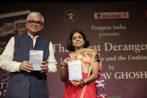 Climate change intolerance discussed at the launch of Amitav Ghosh's book
