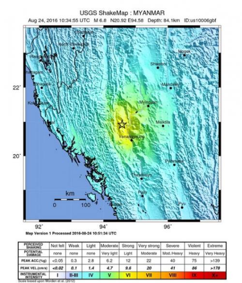 6.8 M earthquake hits Myanmar, tremors in east India