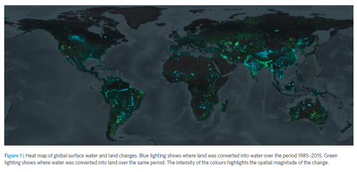 How the world's land and water surface have changed in 30 years