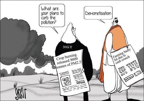Demonetisation in the time of pollution