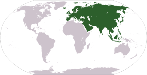 The location of Eurasia     Credit: Wikimedia Commons