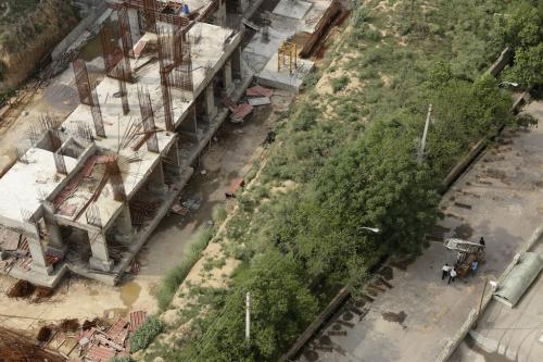 Real estate developer encroaches upon stormwater drain in Gurgaon