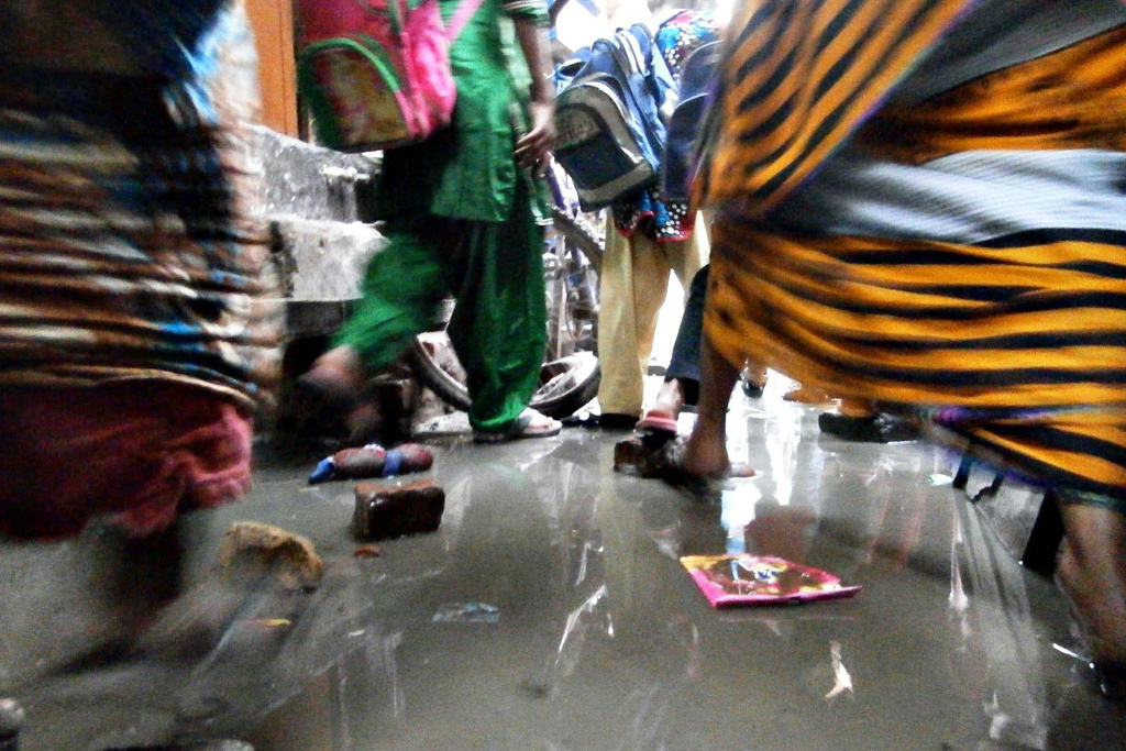 A slum's daily struggle with water