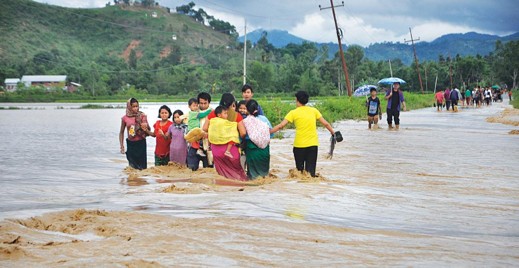 Flood displaced about 500,000 people in Manipur by August 3 (Credit: Santosh Phanjoubam)