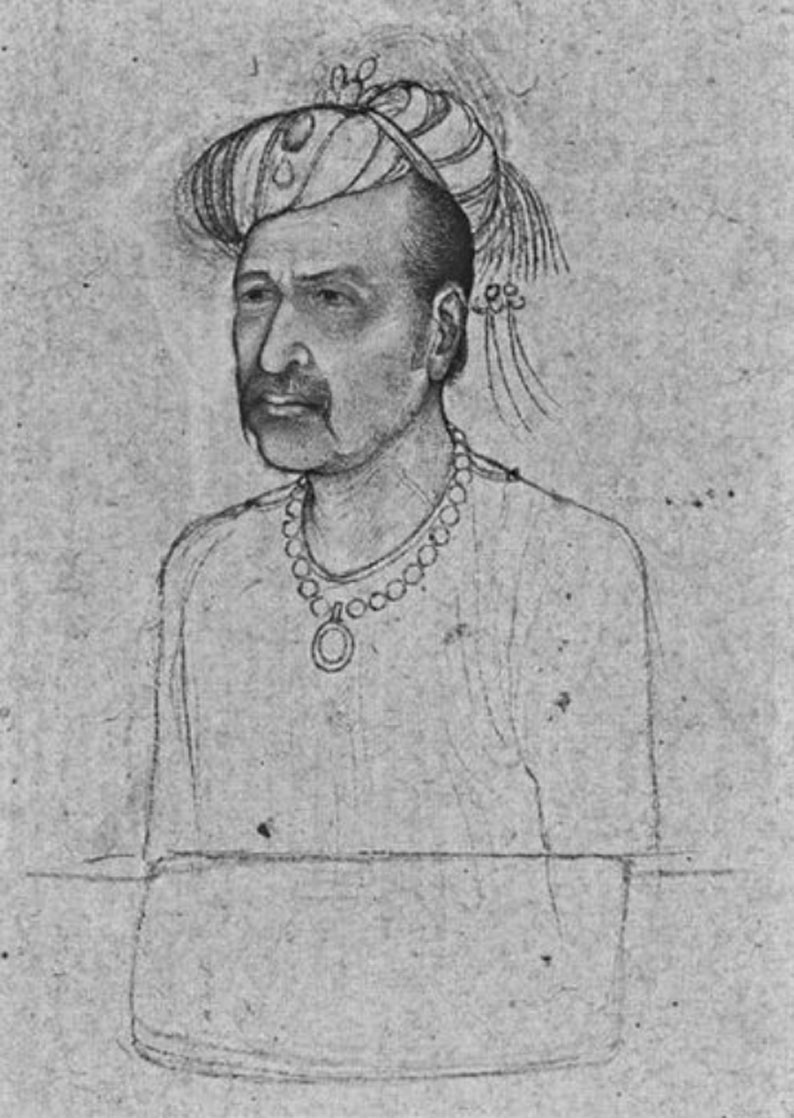 Portrait of Jahangir, attributed to Hashim, ca. 1620, courtesy of the British Museum, London (Source: Ebba Koch)
