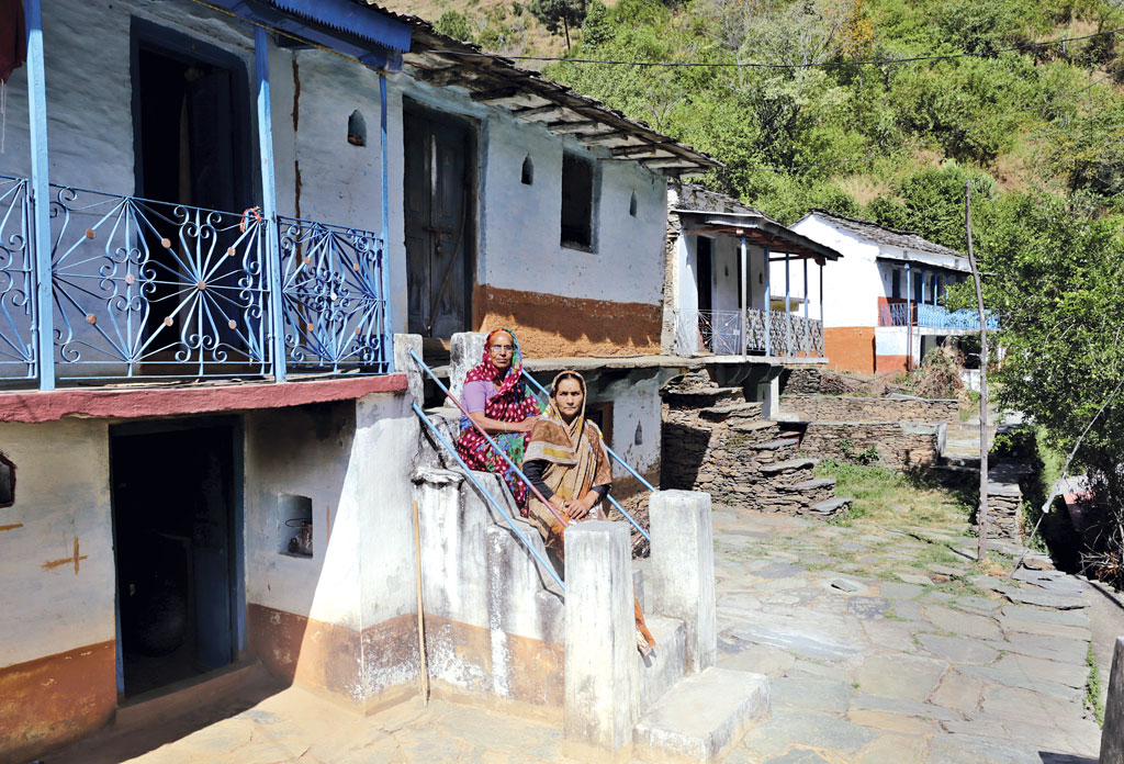 Bimla Devi and Pushpa Devi are the only women left in Bandul village near Pauri. The total population of the village is 11