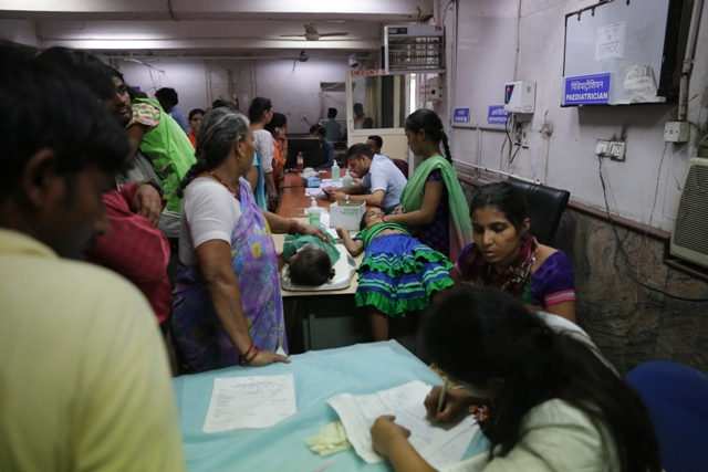 Government hospitals are crowded with dengue patients, forcing them to allot single beds to two patients at a time
