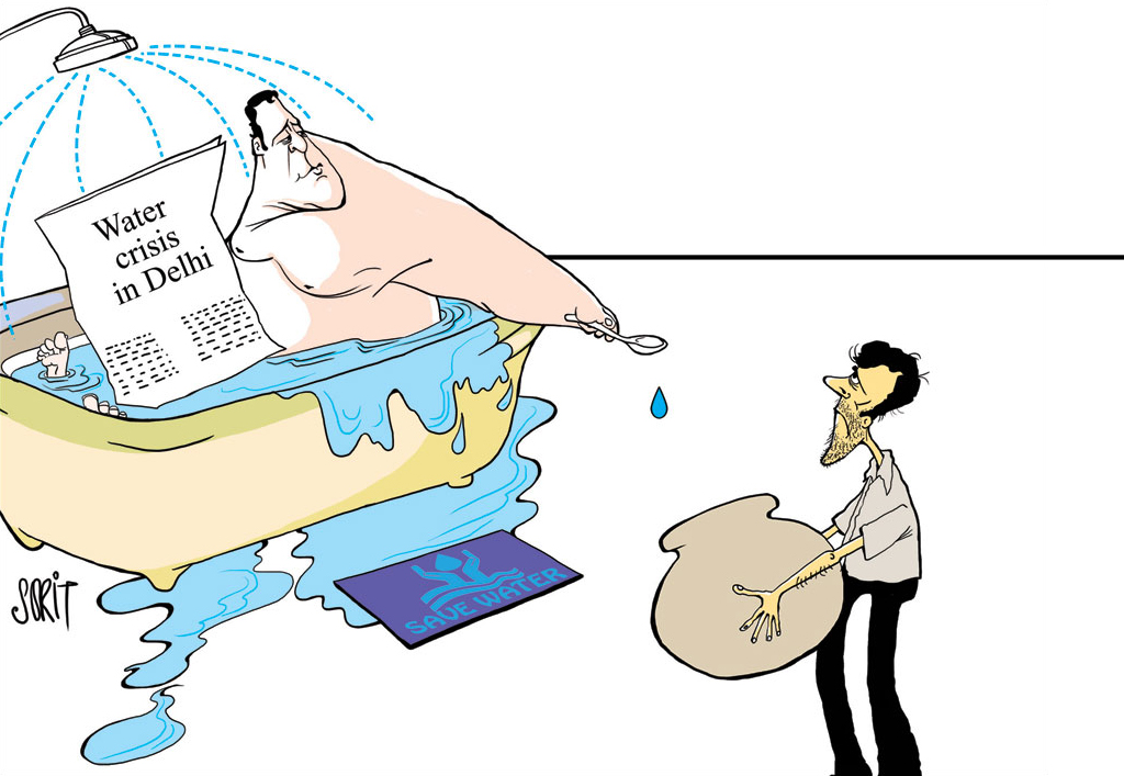 Graphic Editor Sorit Gupto's take on water scarcity in Delhi