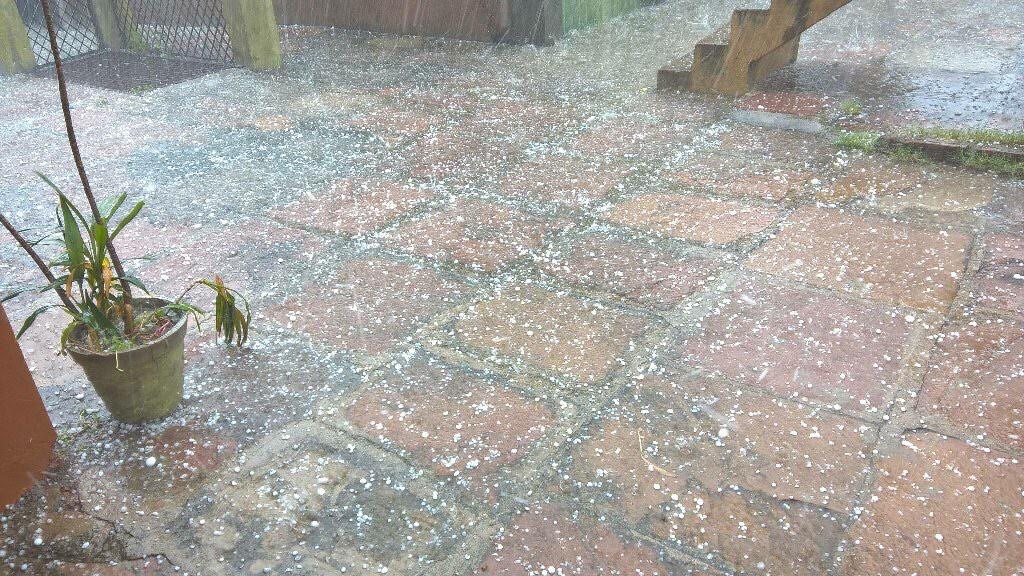 Hailstorm in Jhansi area of Uttar Pradesh. According to weather experts, hailstorm at this time of the year is not a normal phenomenon  Credit: Ritesh Garg