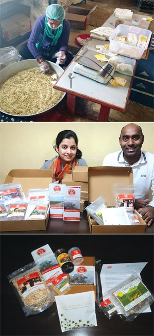(From top to bottom) A woman from a self-help group in Uttarakhand prepares