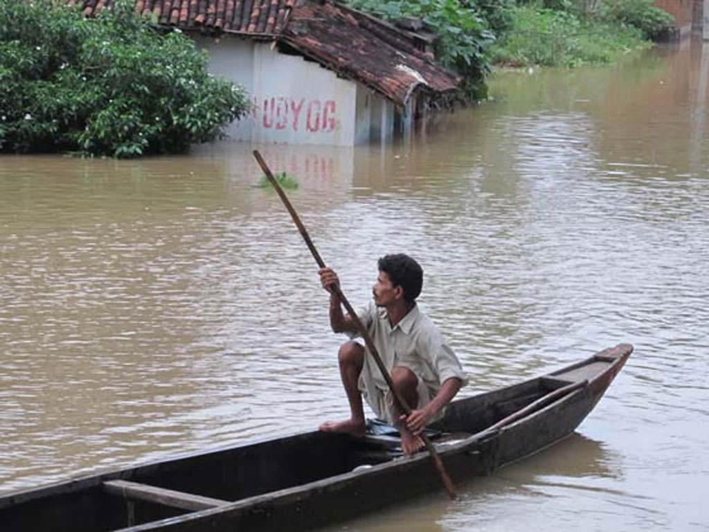 Marooned by rains
