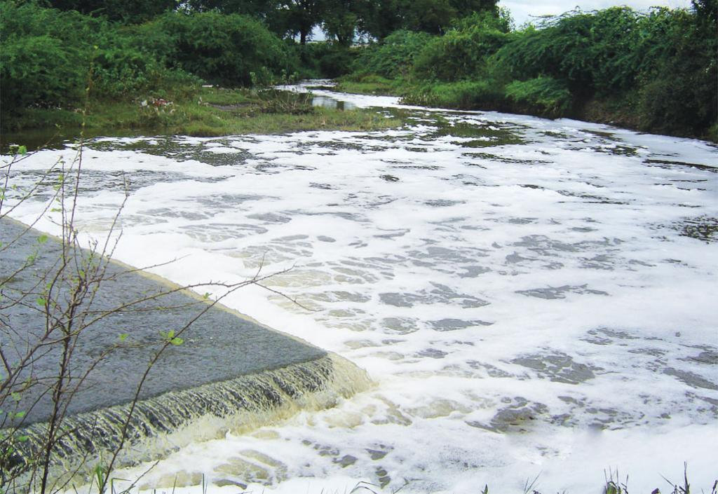 The effluent of pharmaceutical industries at Patancheru finds its way to the Musi river (Photo: Suresh Babu)