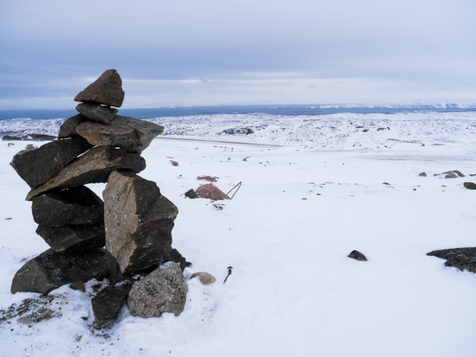 This is an inukshuk, a human-made stone landmark used for navigation by the Inuit. Bown says within a couple of generations, Inuit would have moved from traditional and nomadic way of life to a globalised wage economy (Photo credit: Thinkstock)
