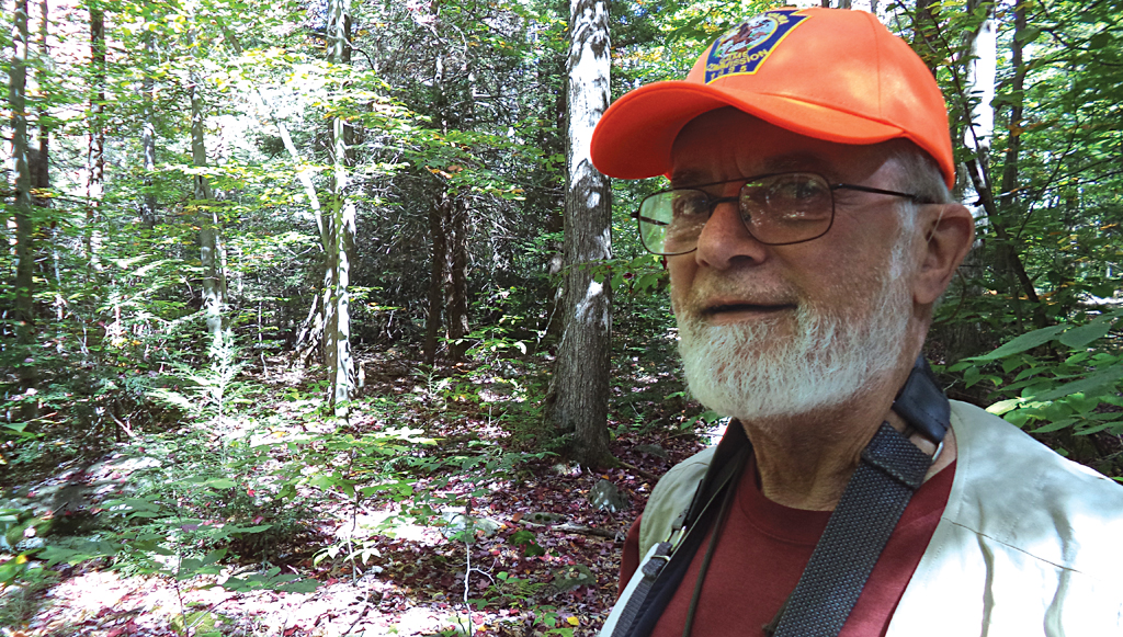 Army veteran Dick Martin maps shale gas wells in the forests of Pennsylvania to raise awareness of their ill effects (Photographs: Chandra Bhushan)