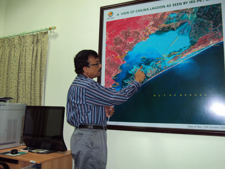 Ajit Kumar Pattanaik is the chief executive of Chilika Development Authority which has recently graded different portions of the lagoon according to water quality, livelihood and biodiversity. (Photo:  Sushmita Sengupta)