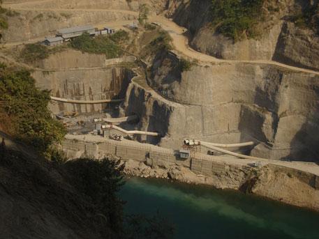 Construction site of Lower Subansiri dam