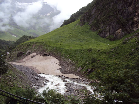 The river that passes through the Valley of flowers has reportedly wiped out the meadows and the flowers endemic to the landscape