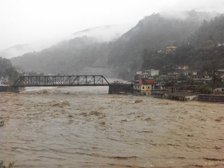 Ganga Nagar Bridge in Rudraprayag district (Photos by Gajendra Rautela)