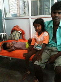 Preeti Kumari (lying on bed) fears eating food. She recovered from respiratory paralysis